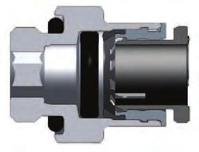 connectors are fitted with an internal hexagon for ease of assembly with the use of an Allen spanner. This enables assembly in restricted spaces.