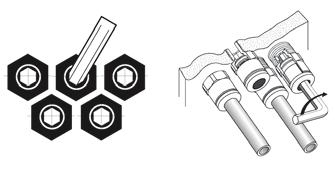 guaranteed Our fittings are designed for internal (above) or external assembly.