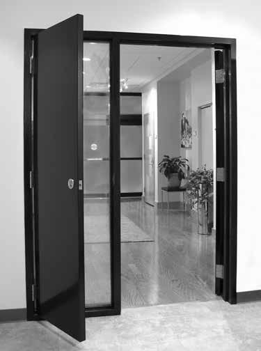 Other applications include the top portion of a dutch door, communicating doors and shallow closets.