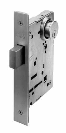 "8200 Series Deadbolts Specifications For Doors Backset Strike Deadbolt Cylinder Masterkeying Case Door thickness 1-3/4"" (44mm) standard (For thicker doors, consult factory) 2-3/4"" only 4-7/8"""