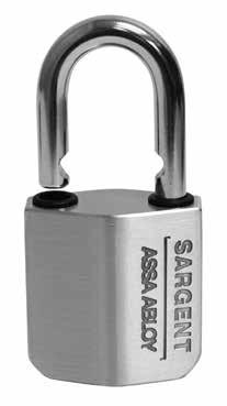 Padlocks 758 & 858 Padlock Features Cylinder easily removed while in the unlocked position for rekeying Available in the following single key sections S, R, U, CR and the following keyway families L,