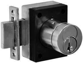 "Locker Locks Specifications: Series 1655 For Doors For Stiles Strike Cylinder Keying options Case Hand Finishes One size for doors 1-1/2"" thick and when used with 4"
