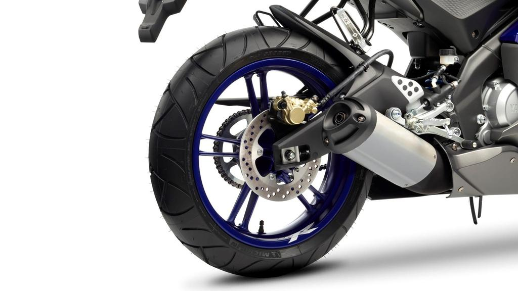 Large diameter disc brakes Yamaha is committed to using high-specification components like the large diameter 292mm front disc brake units on the