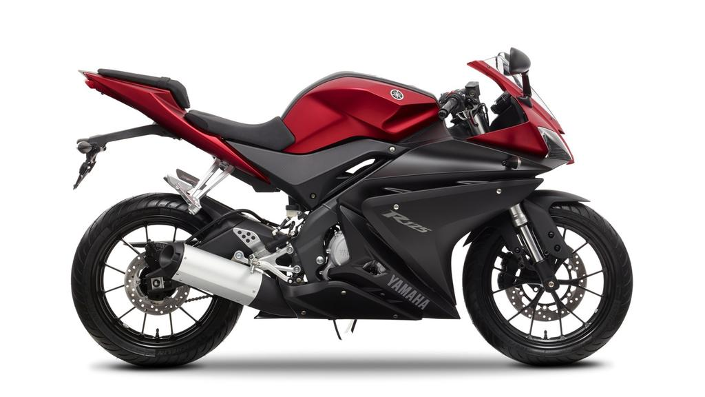 Colours YZF-R125 Race Blu Matt Grey Anodized Red Featured