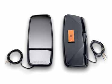 Retrofit Mirror Kits 14 Black Heated Mirror Kit with Lights Black Heated Mirror Kit Update your truck with mirrors that melt cold and ice.