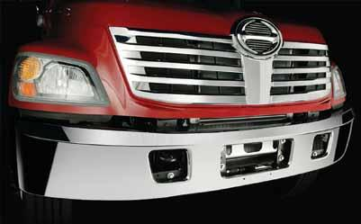 Chrome Bumper 28 Chrome Bumper Make your Hino stand out with a chrome bumper.