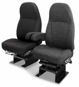 Air Ride Seats Air Ride Seats Do you have comfort on your mind? Our seat is designed to accommodate drivers up to 350 lbs, includes a single heavy duty 1.62 in diameter shock damper.