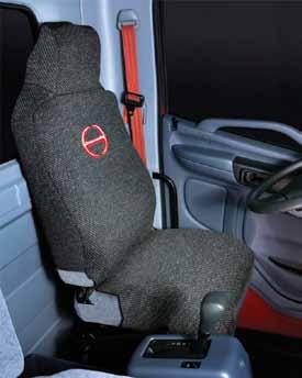 Seat Covers & Orange Seat Belt 4 Seat Covers Keep your original seats looking like new with these durable, tough seat covers with the HINO logo in red.