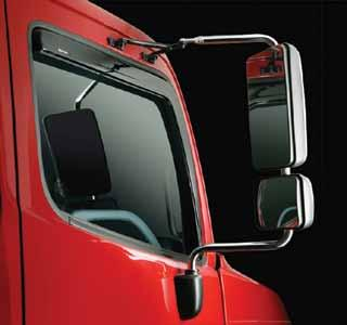 Window Venta-Lators Window Venta-lators Let fresh air into the cab even during bad weather Smoked acrylic Help keep the rain out Help reduce window fogging Lower interior temperatures while