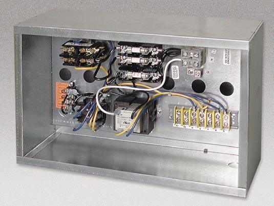 Electrical Enclosure The side-access electrical enclosure provides access to all electric heat and control components.