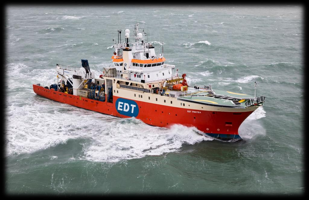 EDT PROTEA DESIGN OWNER OPERATOR BUILT FLAG CALL SIGN DPIII MULTI-PURPOSE SUPPORT VESSEL (MPSV)
