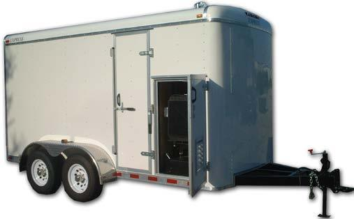 Trailer Options All DILO trailers include the following standard features: DOT Approved All aluminum walk-in enclosure Torflex axles Electric breaks 3 Pintle eye, w/adjustable height Breakaway switch