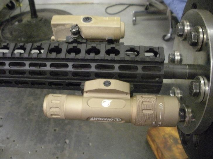 Endurance: Procedure Procedure Barrel threaded to barrel adapter plate on the cyclic load machine. ½-28 UNEF-2A M4A1 barrel thread. Flash hider shims used to control weapon orientation.