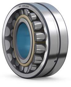 These bearings have been used with great success in vibratory applications such as vibrating screens and road rollers.