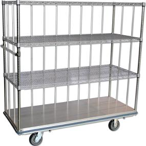 HUSKY 100 Same Great Cart Without Enclosure Bars SOLID BASE: Meets Joint Commission Codes PERIMETER BUMPER: Non-marking-variety of colors, for extra