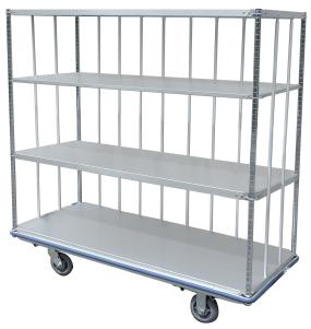 FOR THE LONG HAUL Everyones a Lucky Dog with Husky Carts HUSKY 200 PLUS Solid Aluminum Shelving Cart - 9 Standard Sizes or Custom Sizes.