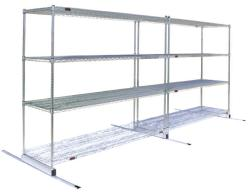 HIGH DENSITY SHELVING FLOOR TRACK Combine with Shelves & Posts Consolidates Space - Low Profile and Non-Corrosive Glides Evenly with Ease - Easy Installation For Use with Wire Shelving FLOOR TRACK :