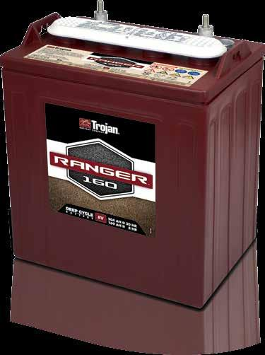 Ranger 160 Trojan s Ranger 160 deep-cycle battery is optimized for excursions that require significantly more range than a typical golf car battery can manage.