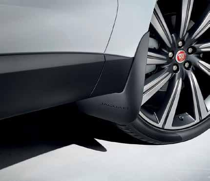 Design features Jaguar branding and includes bright stainless steel edge trim and a rubber tread mat, to
