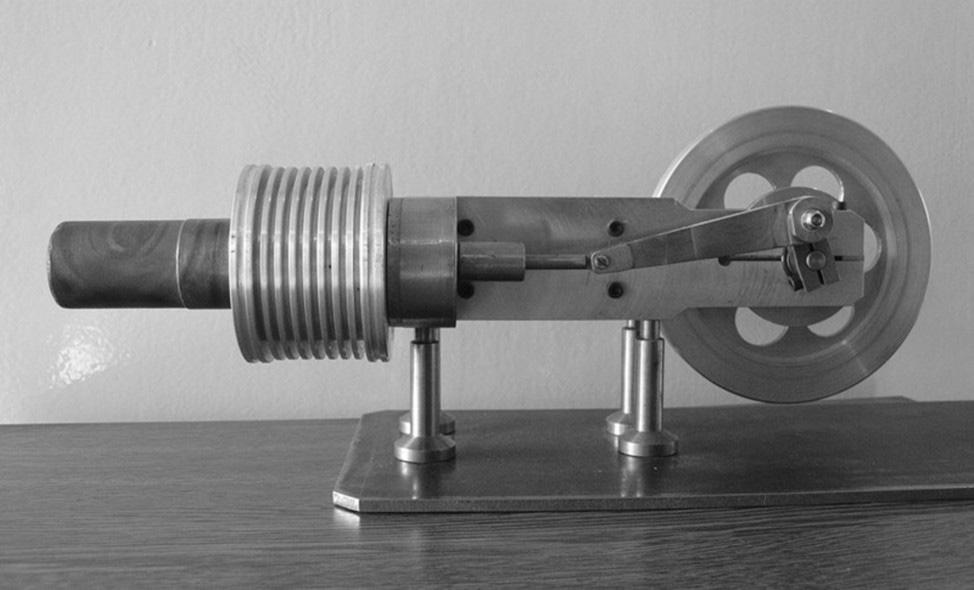 Analysis of properties of a laboratory model of a Gamma Stirling engine Fig. 6. Laboratory Model of Gamma Stirling engine type. Fig. 8.