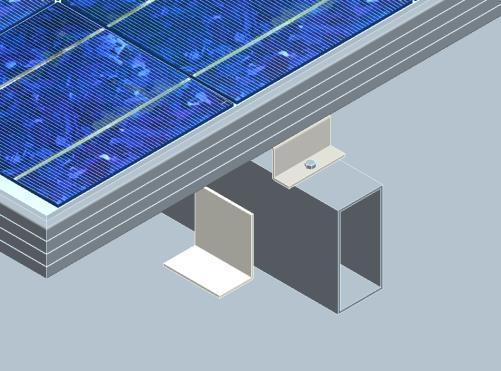 To prevent wiring damage and to allow air to circulate behind the module, clearance between the module frames and surface of the roof is required. The standoff minimum height is 3.