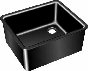 Kemresin Drop-in Sinks Kemresin Drop-in Sinks are formed in metal molds to provide a lipped onepiece tub with coved corners and bottoms pitched to the drain outlet.