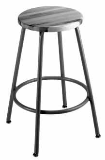 "Adjustment Height F-4946-00 18 1 /2""-22 3 /4"" 8 1 /2"" F-4947-00 22 1 /2""-27 3 /4"" 12 1 /2"" 15"" round upholstered seat 5-legged base with"