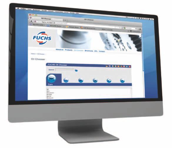 Anti-Freeze Use the FUCHS on-line product selector to find the correct