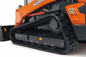 Strong Traction Force Kubota's original track lug design gives you more grip and a stronger traction force of 9678 lbs.