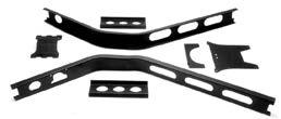 14 1935-40 FORD Car and Pickup Suspension Parts 1935-1940 Frame and Suspension Parts REPLACEMENT X-MEMBER KIT Formed channel X-member gives excellent rigidity for fiberglass or steel bodies.