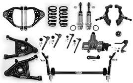 "Speed Kit 1: tubular upper control arms, tubular lower control arms with stock spring pocket, Koni classic front shocks, DSE increased spring rate springs, DSE forged 2"" dropped spindle."