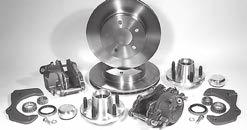 "Disc Brake Parts and Conversion Kits 63 ECI Disc Brake Kits for stock spindles (cont.) 55-58 Chevrolet Passenger Cars with stock spindles EC-708 GM 4-3/4"" Bolt Circle...Basic Kit $175.00 EC-708CK."