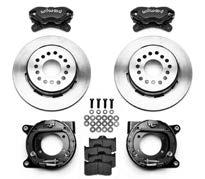 "Disc Brake Parts and Conversion Kits 65 WILWOOD PRO SERIES REAR AXLE KITS Internal parking brake fits 15"" and up wheels. Also available without parking brake."