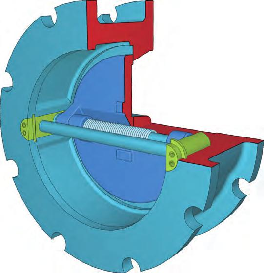 unnecessary stress on the check valve Split Disc Design minimizes