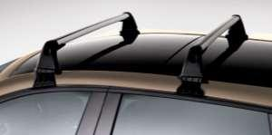Transverse roof bars on longitudinal bars also available for Grand Scénic.