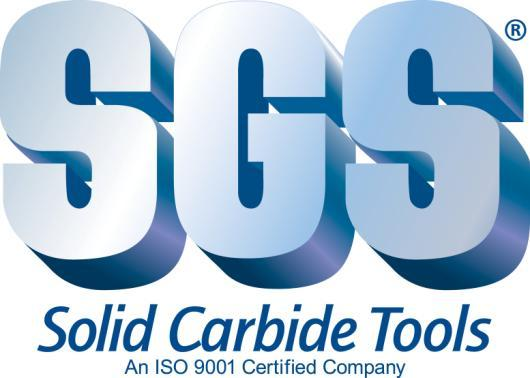 SGS Carbide Tool (UK) Ltd 10 Ashville Way Wokingham Berkshire RG41 2PL Tel: 01189 795200 Fax: 01189 795295 www.sgstool.