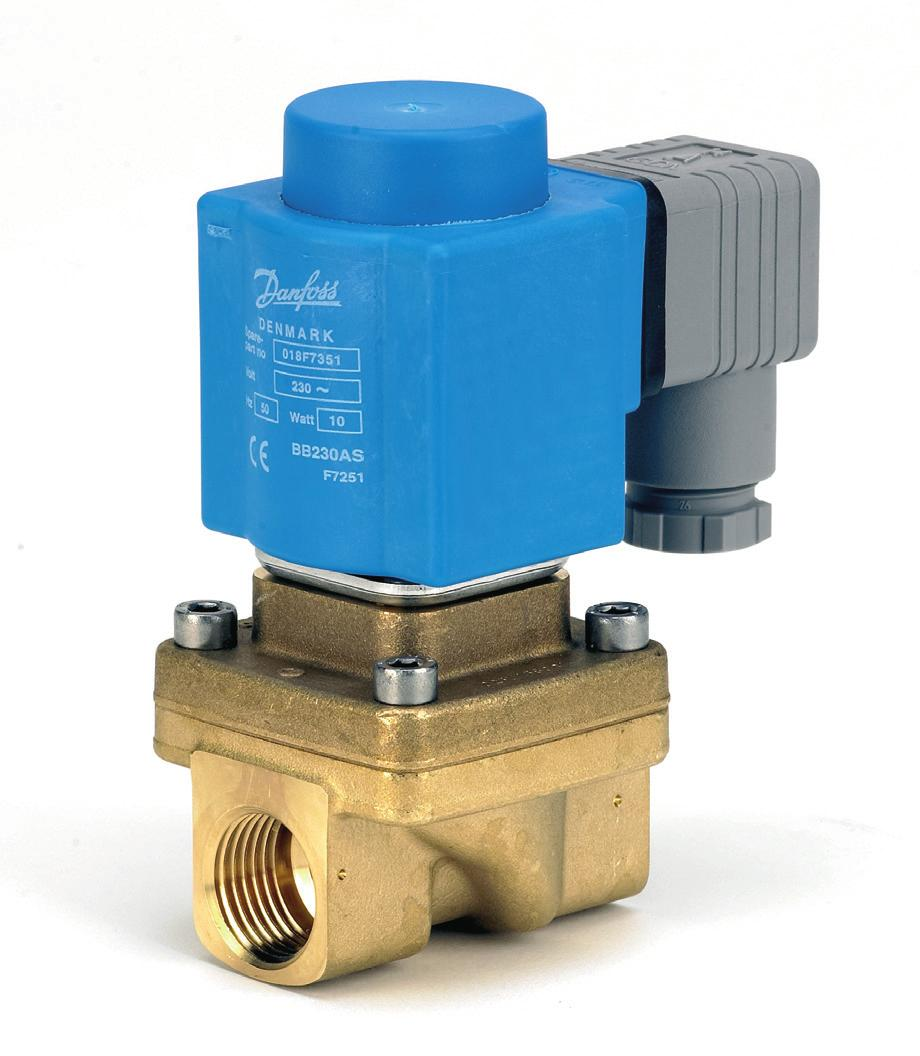 MAKING MODERN LIVING POSSIBLE Data sheet 2/2-way assisted lift operated solenoid valve type EV250B EV250B with assisted lift can operate from zero and up to 10 bar differential pressure.