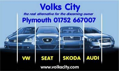VOLKS CITY BEECH AVENUE CATTEDOWN PLYMOUTH PL4 0QQ Telephone: 01752 667007 Fax: 01752 663399 Email: mail@volkscity.