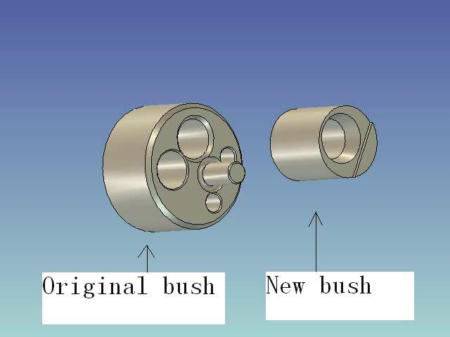 1106, Page 3 flank to support the balls. So the outer diameter of the main bearing must be reduced. A needle bearing whose dimension is 223020 is chosen to supersede the original main bearing.