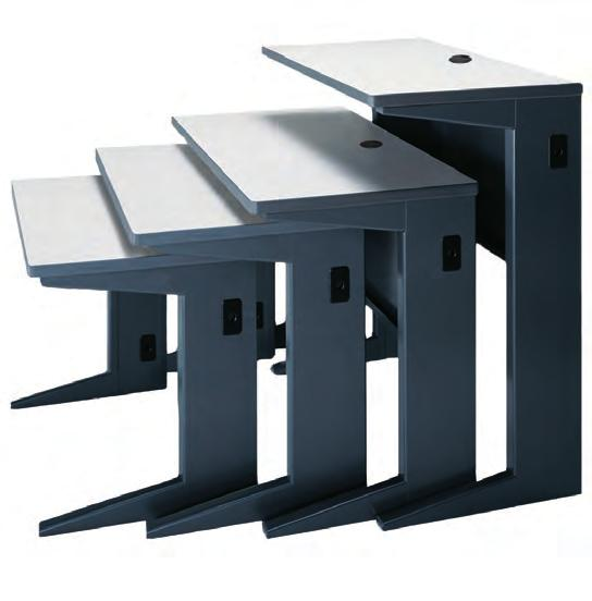 VISTA Training Tables Tables Standard height is 29 H. Also available in 26 H, 32 H and 42 H by special request.
