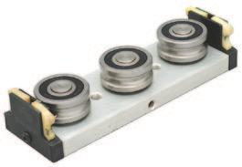 features & BENEFITS Easy adjusting - patented pre-load adjustment eliminates eccentrics Integral seals Bearings sealed against contamination Gothic arch rollers Maximum temperature approximately 80 C.