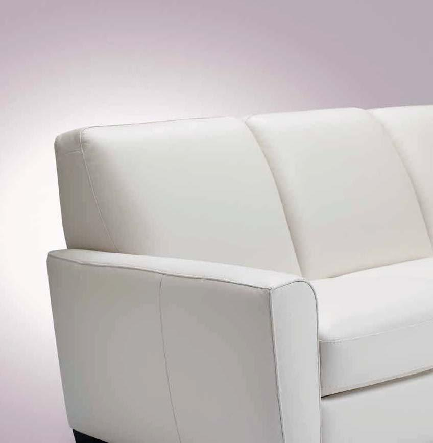 This transitional modular sofa with open base has a