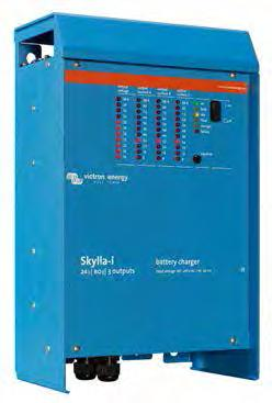 Skylla-i Battery Charger 24V Skylla-i Li-Ion ready battery charger 24V Li-Ion ready Skylla-i (1+1): two outputs to charge 2 battery banks The Skylla-i (1+1) features 2 isolated outputs.