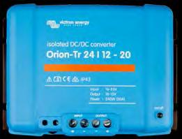 Orion-Tr DC-DC converters isolated: 100 / 250 / 400 Watt Remote on-off The remote on-off eliminates the need for a high current switch in the input wiring.