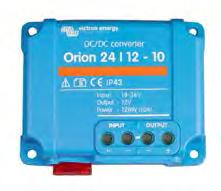 Orion-Tr DC-DC converters, low power High efficiency Using synchronous rectification, full load efficiency exceeds 95%. IP43 protection When installed with the screw terminals oriented downwards.