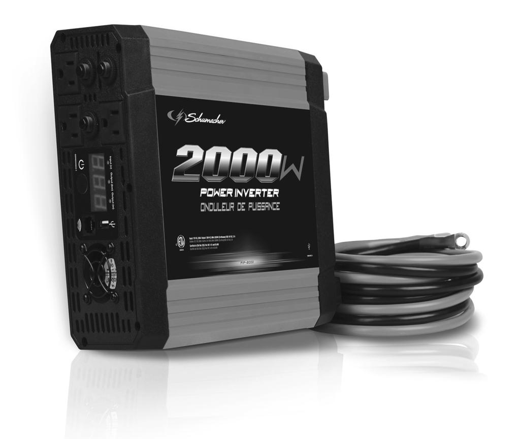 OWNERS MANUAL Model: PIF-2000 Power Inverter Converts 12V DC Battery Power to AC Household Power PLEASE SAVE THIS OWNERS MANUAL AND READ BEFORE
