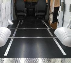 Ranger Designs custom-fit rigid flooring system is available for every type of service van.