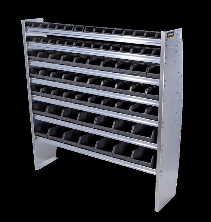 CONTOURED BIN SHELVING UNITS PACKAGES BENEFIT Engineered to maximize cargo space.