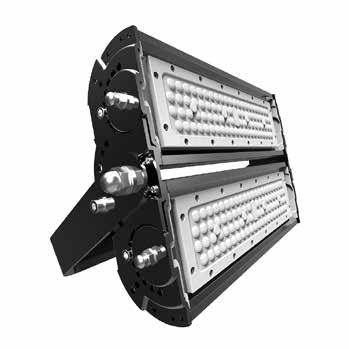 Flood Light Modular design for various applications (60W-980W) Independent heat sink for good heat dissipation Up to140 LPW 2018 Q1 Launch IP65 Building façades, bridges, roadways, gardens CCT(K)
