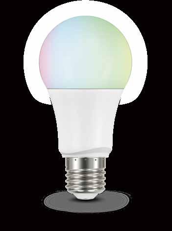 Bluetooth AURA RGB Bulb Color calibrated, minor color difference when powering on several bulbs at the same time Premium, high quality R,G,B,W LED chipset Up to 16 million colors Tunable white from